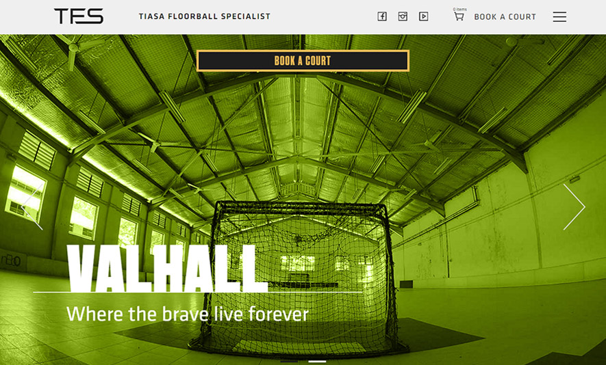 TIASA Floorball – Court Booking Website